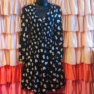 Anthropologie Maeve heart smocked dress xs